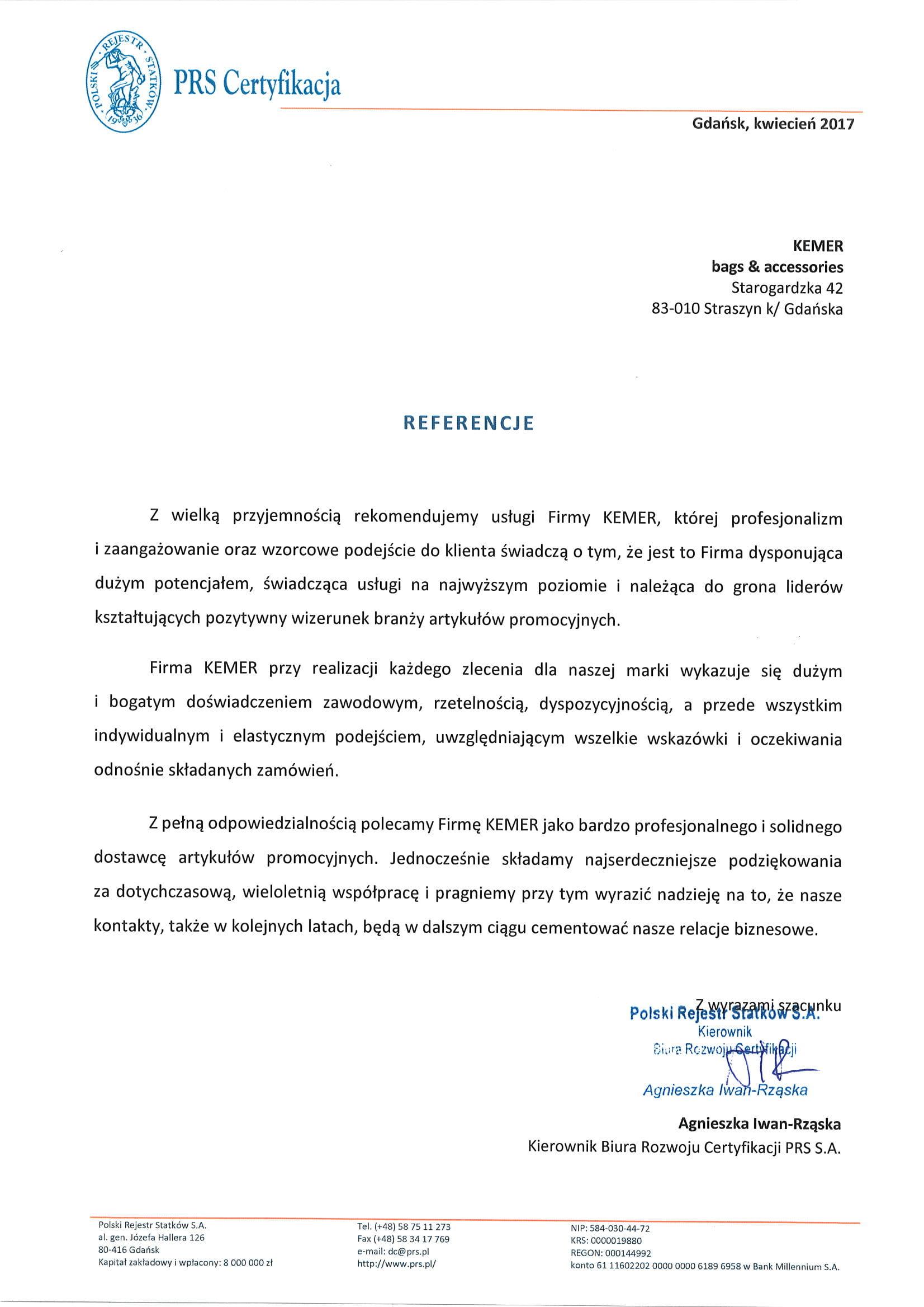 PRS Certyfikacja